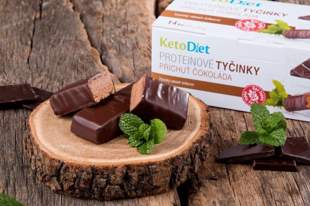 Keto dieta - čokoládové tyčinky