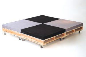 6c80824da8b9 Podsvícená postel z EURO palet - Svět kreativity